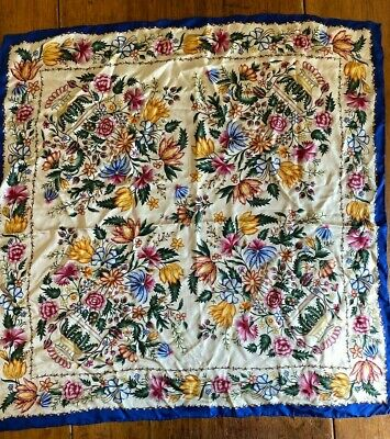 Williamsburg Silk Scarf Floral Design