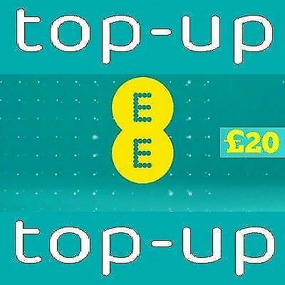 EE - £20 - Pay as You Go - Mobile phone Top Up Code / Vouche