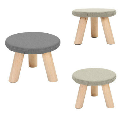 Small Footstool Foot Rest Stool Pouffe Ottoman Round Kids Chairs For Living Room