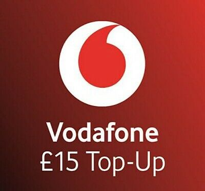 Vodafone - £15 - Mobile phone Top Up - Code / Vouche
