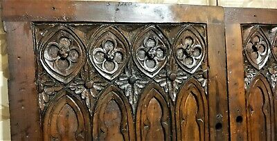 Pair 18th cathedral decor panel Antique french rosette architectural salvage