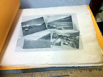 Alaska & Yukon Booklet of photos from 1898 Chilkoot pass, Klondike, Dawson