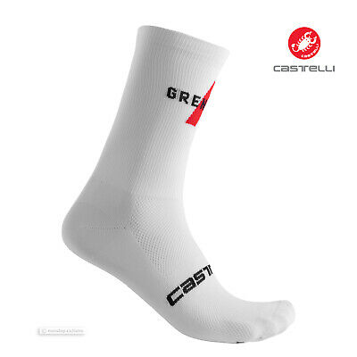 Castelli INCENDIO 15 cm Tall Cuff Wool Blend Cycling Socks ANTHRACITE//FLUO