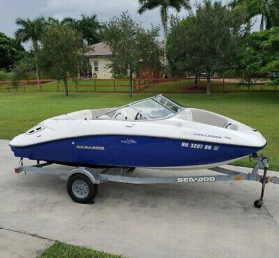 2011 Seadoo Challenger 180 Jet Boat 255hp Supercharged 79 hrs 18 Trailer Bimini