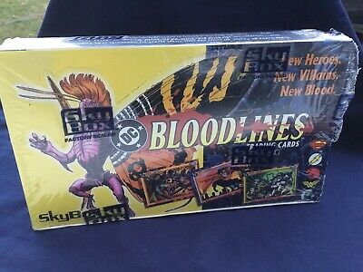 1993 RARE DC COMICS BLOODLINES TRADING CARD SEALED BOX Read - SKYBOX