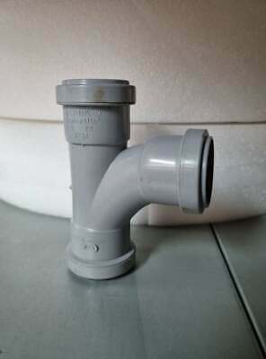 """Pushfit Swept Tee 91.25 degree White Polypipe WP21 32mm 1 1//4/"""" New and Unused"""