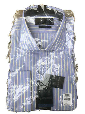 Austin Reed Non Iron Slim Fit White Blue Check Long Sleeved Cotton Shirt Sz 18l 15 00 Picclick Uk