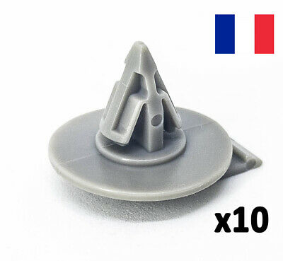 10x Clips Pour BMW Mini Cooper Cover Door Sill trim Passage De Roue Clips en plastique rouge