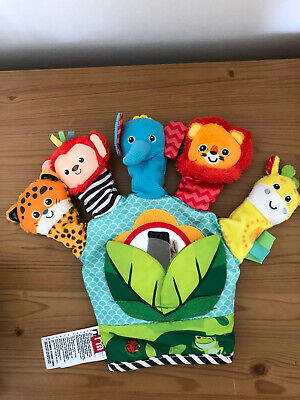Baby Soft Toy Hand Finger Puppet Mirror sensory Mothercare