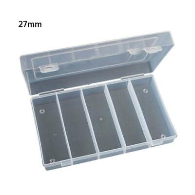 Plastic Storage Box Collection Case for 100pcs 27mm Coin Capsules Holder