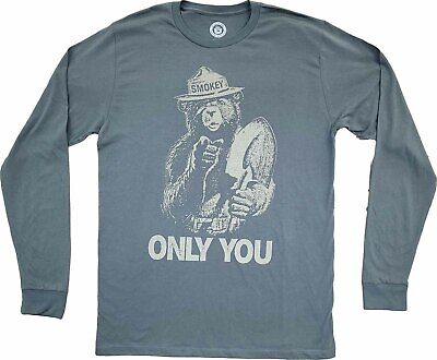 Smokey Bear May the Forest Be With You Sci-Fi Pun Funny Parody Men/'s T-Shirt Tee