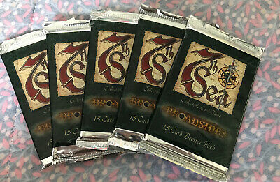 Free Shipping! 1x Unopened 15 Card Booster Pack of 7th Sea CCG Broadsides