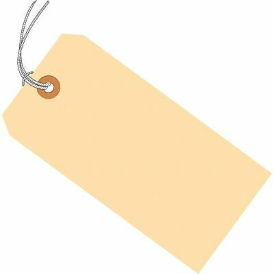 """3 1//4/"""" x 1 5//8/"""" Size 2 Manila Inventory 13 Pt Shipping Hang Tags with Wire"""