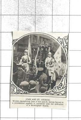1920 Women Representing Joan Of Arc And St. George In Birmingham Church Pageant