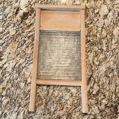 Vintage Home Aide Glass Wood Washboard 18 Country Farmhouse Decor Laundry 14 00 Picclick