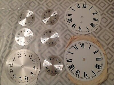 Metal Clock Dial Face Collection New Old Stock Ex Clockmakers Spare Parts 9-18cm