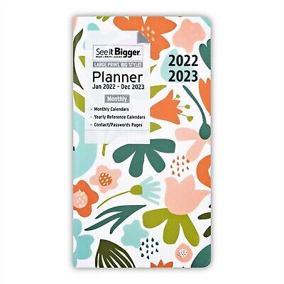2021 Monthy Planner Large Print 2 Year Executive Planning Contacts FREE SHIPPING