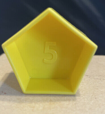 Tupperware Tupper Toy Shape-O Ball Sorter Replacement Yellow Shapes ~ Choose 1