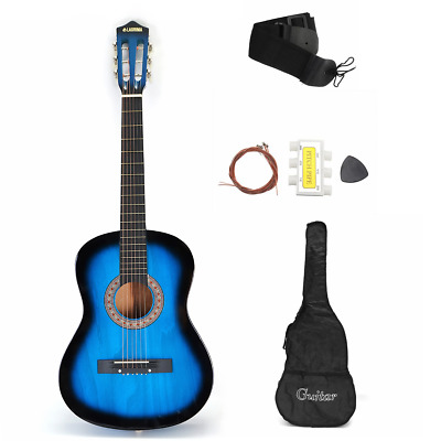 831-BTSPM-BK Strings Black Picks and Beginners Guide Tuner Star 6 Acoustic Guitar 38 Inch with Bag