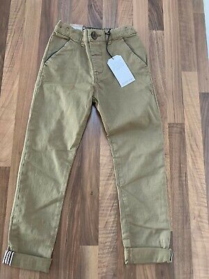 Bnwt Boys Beige Chino Style Denim Jeans Age 4-5 Years From Next Ideal Gift