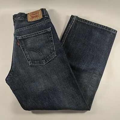 Levis 569 Loose Straight Fit Blue Jeans Boys Size 14 Regular 27 x 27