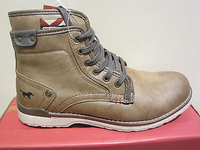 Braun New Details about  /Mustang 1231 Boots Ankle Boots with Zipper