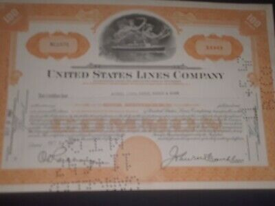 1947 United States Lines Co. stock certificate shipping