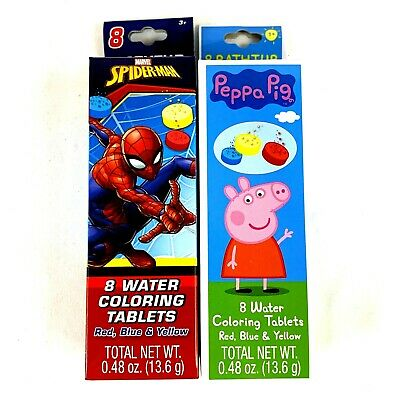 Spiderman and PJ Masks Bathtub Fizzies 8 Water Coloring Tablets Lot of 2 NEW