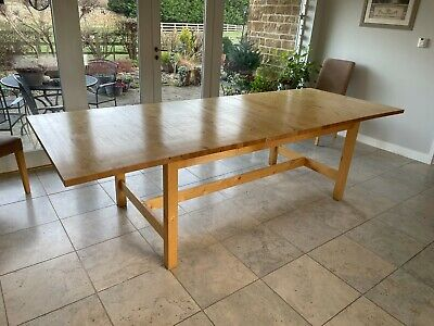 Ikea Extending Dining Table Seats 8 To 10 People 50 00 Picclick Uk