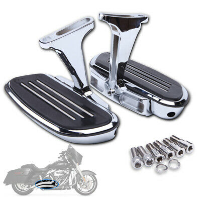 FOOT BOARD Rear CHROME W// Detent Mount HARLEY Fits Touring Softail Heritage F4