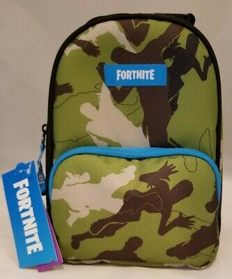 BRAND NEW W TAGS Fortnite Camo Dual Compartment Insulated Lunch Bag