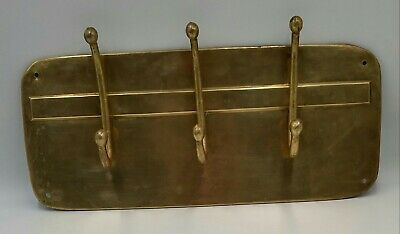 Vtg New 60/'s American Tack /& Hdwe Co.Brass tone Floral Leaf Wall Hat Hook X 12