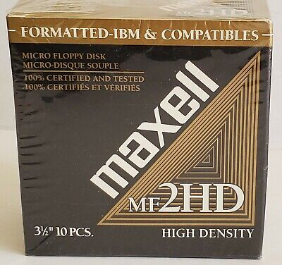 "Maxell MF2HD 3.5"" Floppy Disk (10 Pack)"