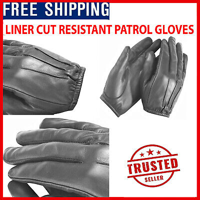 Made With Police Anti Slash Fire Resistant Leather SIA Gloves Security H5W2