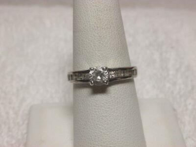 Details about  /Women/'s Baguette CZ Stones Ribbon Sash Bar Ring Real Sterling Silver .925