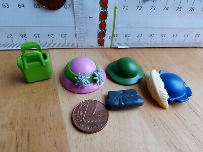 Toy Fedora Hat Suitcase /& Laptop Playmobil Doll House Spare Parts