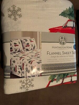 Bee /& Willow Truck with a Tree Flannel Twin Sheet Set