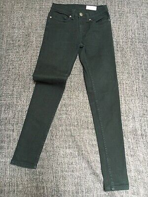 Primark Super Skinny Stretch Boys Mens Youth Denim JEANS W26 L30 Black Trousers