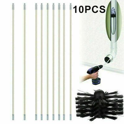 Chimney Pipe Inner Wall Cleaning Brushes Head Bendable Electric-Drill Spare Part