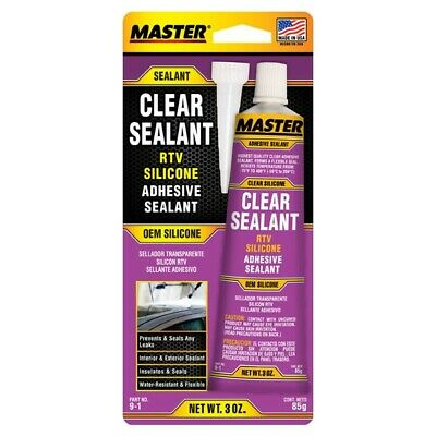 MASTER 9-1 3 oz. CLEAR RTV Silicone Instant Gasket FREE SHIPPING
