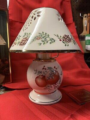 Details about  /Lenox Colonial Williamsburg Boxwood and Pine Candle Lamp