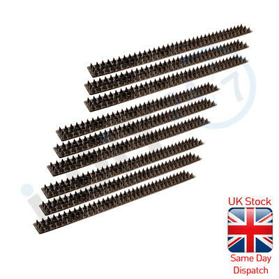 10Pc Brown Wall Fence Spikes Anti Climb Security Cat Bird Repellent Deterrent