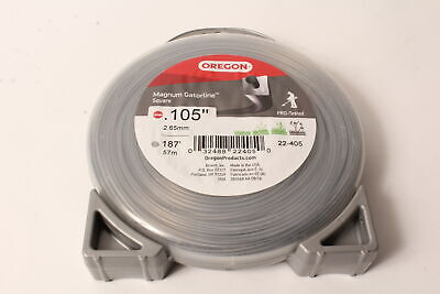 """STRING TRIMMER LINE SQUARE DUO CORE 110 FEET 1//2 POUND DONUT .105/"""""""