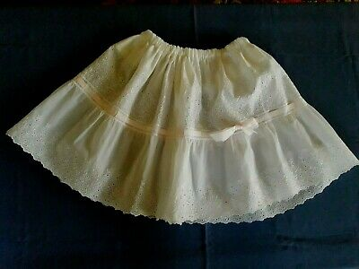 Jupon princesse fillette nylon rigide T8-9a vintage 60 Girl petticoat sz 8-9yrs