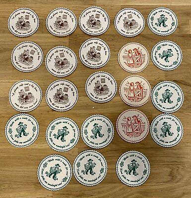 Christmas and Misc Vintage Holiday Drink Coasters 60 Paper Pieces Amish