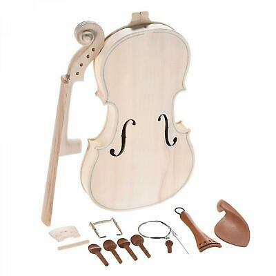 Wood Violin Kit Maple Back Neck Natural Solid With Spruce Top Full Size Diy 4/4