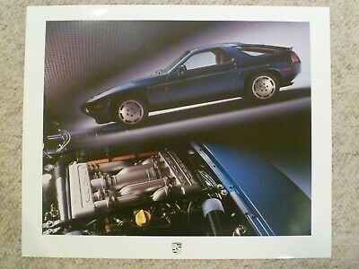 Awesome L@@K 1990 Porsche 928 GT Coupe Showroom Advertising Sales Poster RARE!
