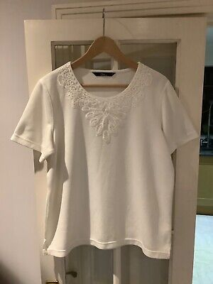 NEW Ex  Bonmarche  frill sleeve ivory   top SS74