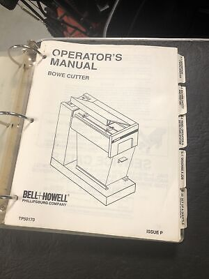 Bell & Howell Tp50170 BOWE Cutter Instruction Operator's Manual