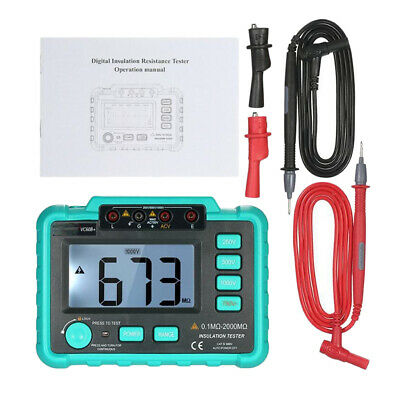 VC60B+ Auto-Ranging  MegOhm Meter Insulation Resistance Tester with Alligator